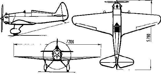 Схема самолета УТ-1